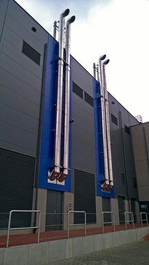 Выхлопная система генераторов ЦОД