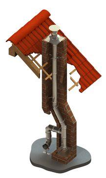 Druckdichter einwandiger Edelstahlschornstein für die Schornsteinsanierung oder als Verbindungsleitung einer Abgasanlage